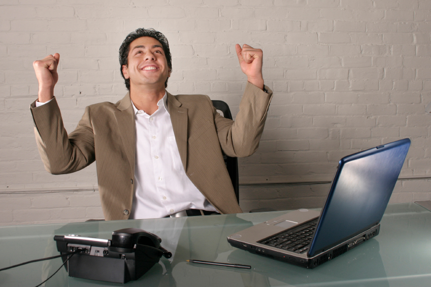 empreendedor feliz